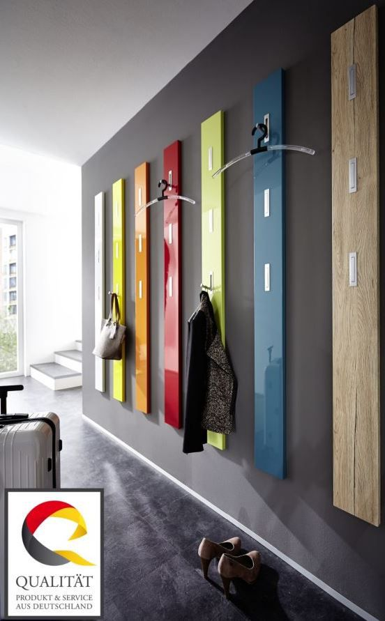 Gaderobe Germania 3255 Colorado   Garderobenpaneel mit 3 ausklappbaren Kleiderhaken für 47,95€