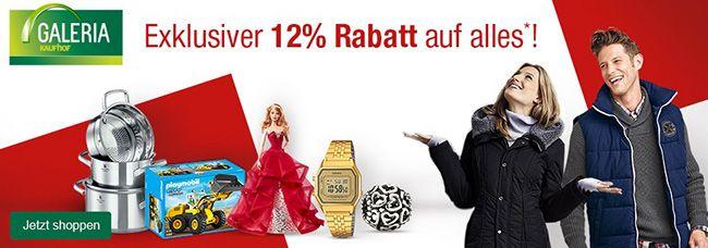 Galeria Kaufhof Rabatt 12% Rabatt auf Alles bei Galeria Kaufhof   z.B. Picard Tasche für 176€ (statt 249€) und günstig Lego