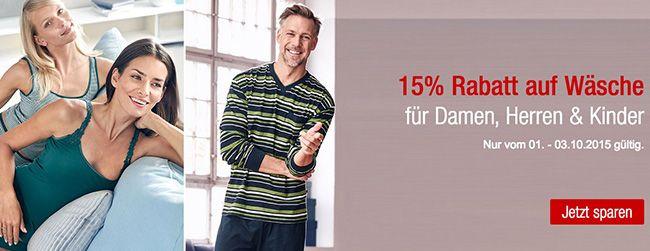 15% Rabatt auf das Wäschesortiment + 12€ Gutschein bei Galeria Kaufhof
