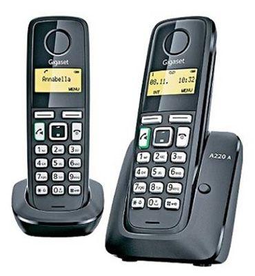 Gigaset A220A Duo mit Anrufbeantworter für 19,90€ (statt 49€)   Demoware!