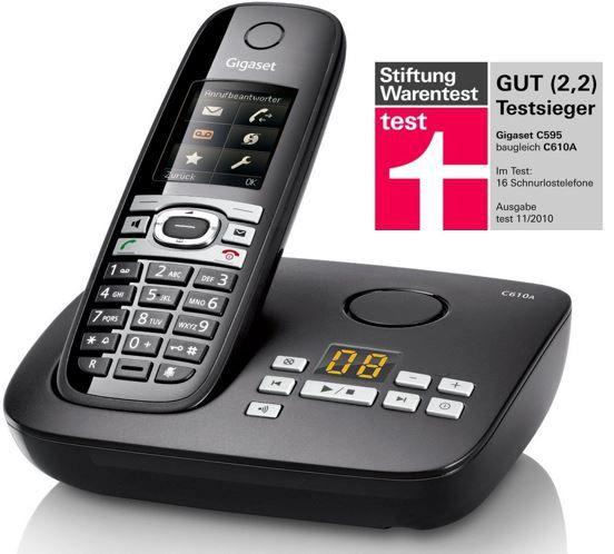 Gigaset C610A   DECT Telefon mit Anrufbeantworter für 49,95€