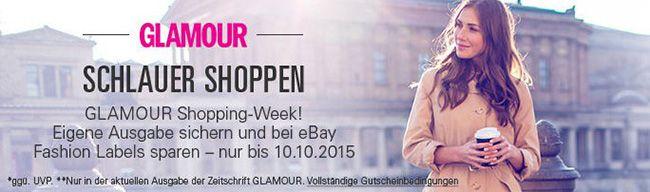Glamour Shopping Week 20% Rabatt auf Fashion bei eBay in der Glamour Shoppingweek