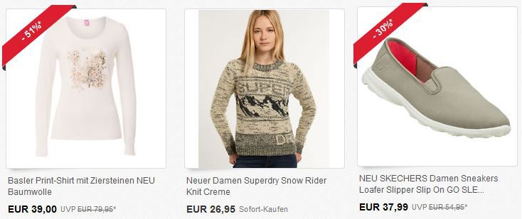 20% Rabatt auf Fashion bei eBay in der Glamour Shoppingweek