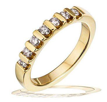 Goldmaid Memoire Damen Ring aus Gelbgold mit 7 Brillanten für 499,99€