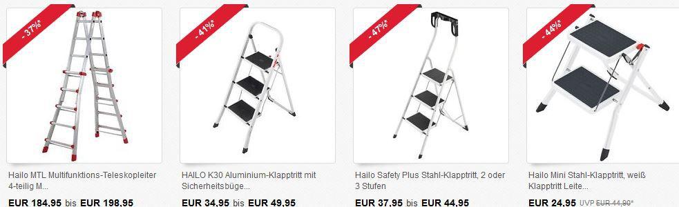 Hailo Aluminium 5 Stufen Profistep statt 86€ für 42,90€   ebay 40% Hailo Rabatt Aktion