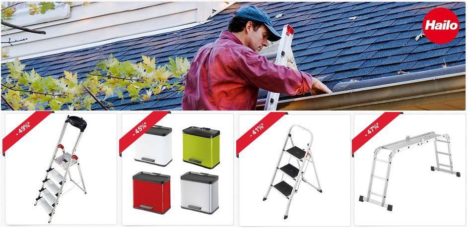 Hailo Sonderverkauf Hailo Aluminium 5 Stufen Profistep statt 86€ für 42,90€   ebay 40% Hailo Rabatt Aktion