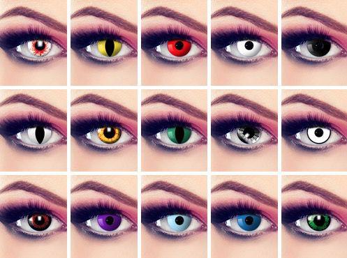 Verschiedene Halloween/Fastnacht Kontaktlinsen für 12,75€