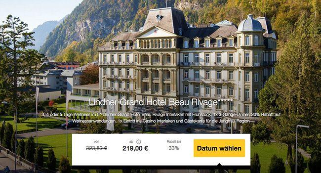3 5 Tage Interlaken Wellness im 5 Sterne Hotel mit Frühstück und Extras ab 219€ p.P.