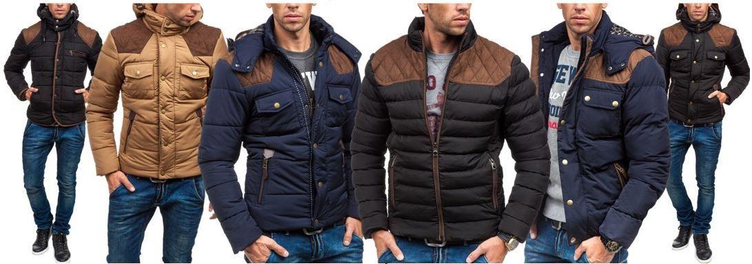 J.Style YD 4D4 stylishe warme Herrenjacke mit Kapuze für nur je 39,95€