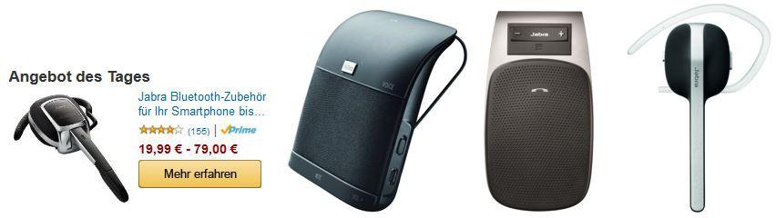 Jabra Bluetooth Zubehör Aktion für Smartphones mit guten Preisen als Amazon Tagesangebot