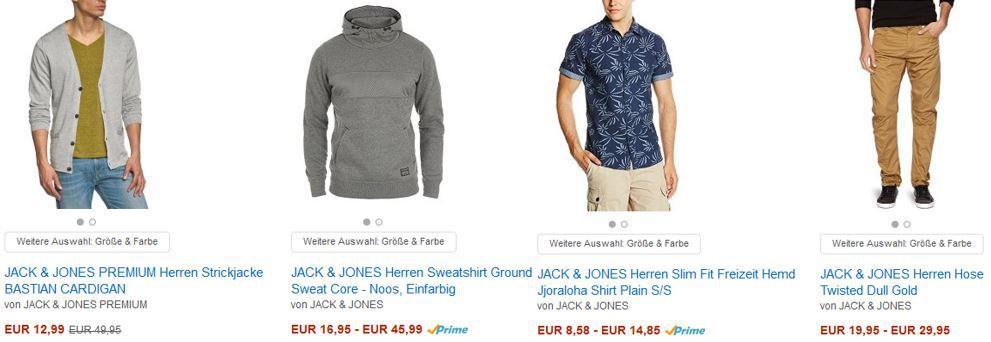 Jack & Jones Rausverkauf mit bis zu 50% Rabatt auf ausgewählte Artikel
