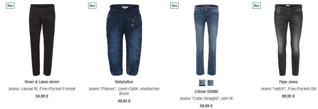 20% Rabatt Aktion auf Levis, MAC, Wrangler, BRAX und viele andere Jeans + extra Rabatt bis 15€