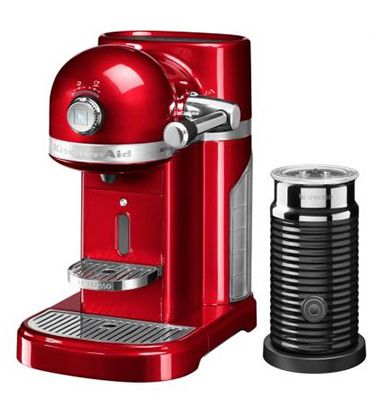 KitchenAid Artisan Nespresso Maschine mit Milchaufschäumer + 150 Kapseln für 349€