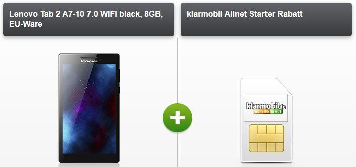 Lenovo Tablet Vodafone Starter: 100 Minuten und SMS + 400MB Daten +  Hisense Sero 7 Tablet für nur 5,95€ mtl.