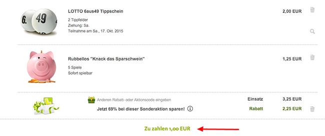 Lottoland Tipp Lottoland: 2 Lottofelder 6 aus 49 + 5 Rubbellose für 1€   auch für Bestandskunden!