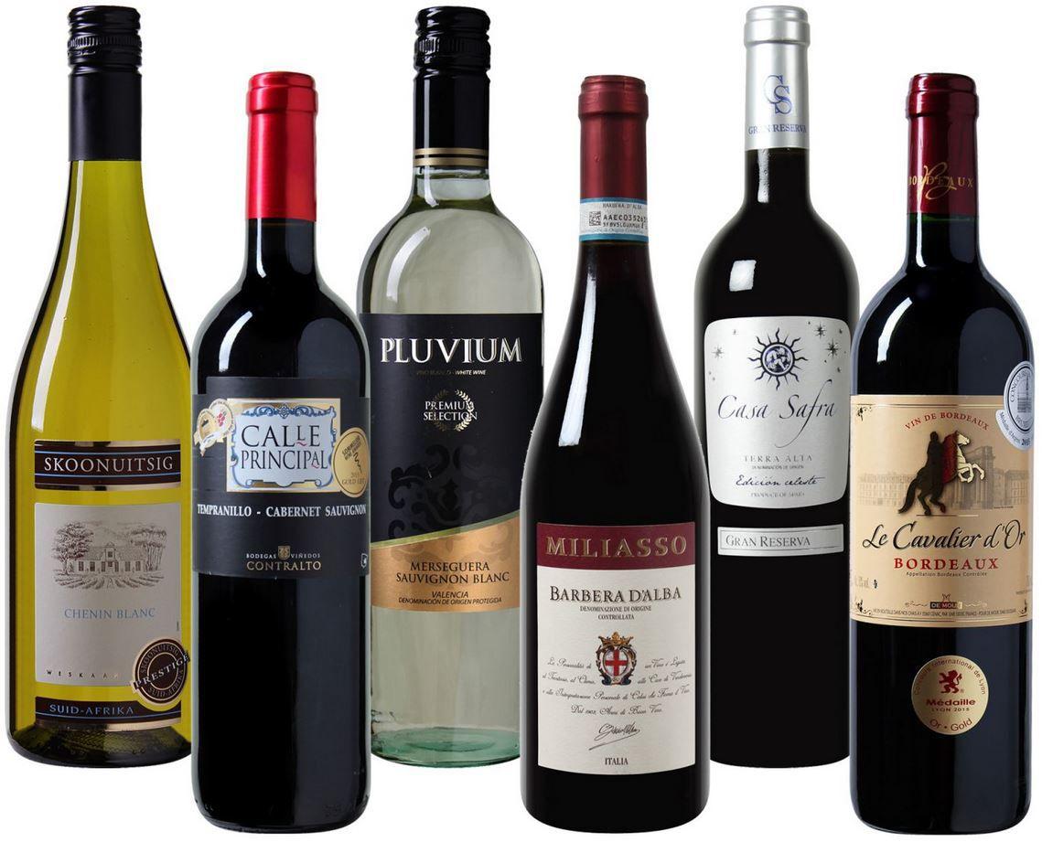 Weinvorteil mit 6Flaschen Luxus Wein II rund um den Globus für nur 19,99€