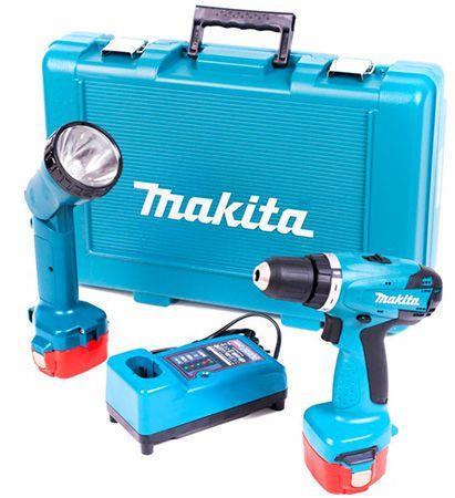 Makita 6271DWPLE Akku Bohrschrauber mit 2x 1,3 Ah Akkus und Lampe für 90,99€