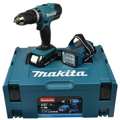 Makita DHP453RYLJ Akku Schlagbohrschrauber für 124,89€ (statt 171€)   bei 0% Finanzierung!