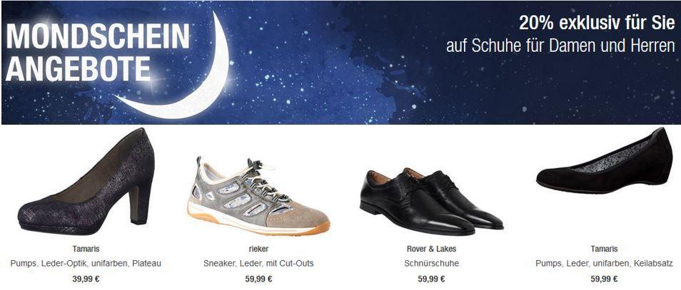 Galeria Kaufhof: 20% Rabatt auf Schuhe inkl. Sportschuhe