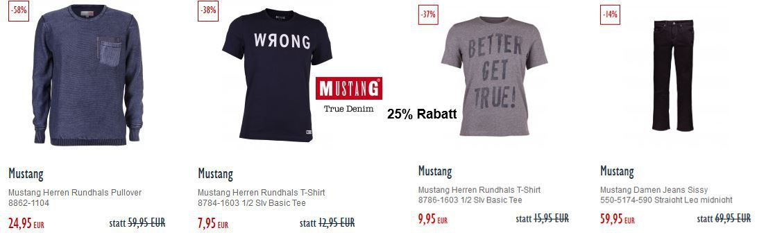 Mustang Fashion mit 20% Rabatt @Jeans Direct