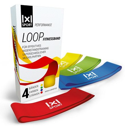 Performance Loop Fitnessband 4 Performance Loop Fitnessbänder ab 0,90€ (statt 15€)