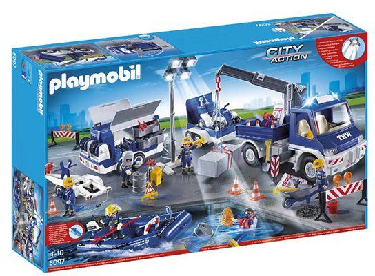 Playmobil THW Großeinsatz Set Playmobil THW Großeinsatz Set für 62,10€ (statt 92€)