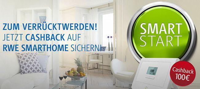 RWE SmartHome RWE SmartHome: 100€ Cashback beim Kauf einer SmartHome Zentrale + 2 Geräte nach Wahl
