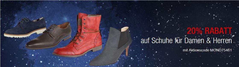 Galeria Kaufhof Mondschein Angebote mit 20% Rabatt auf Damen und Herren Schuhe