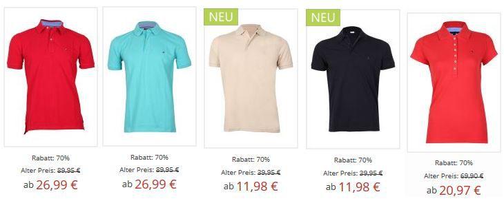 Tommy Hilfiger und Ragman bis zu 70% reduziert   kultige T Shirts und Polos