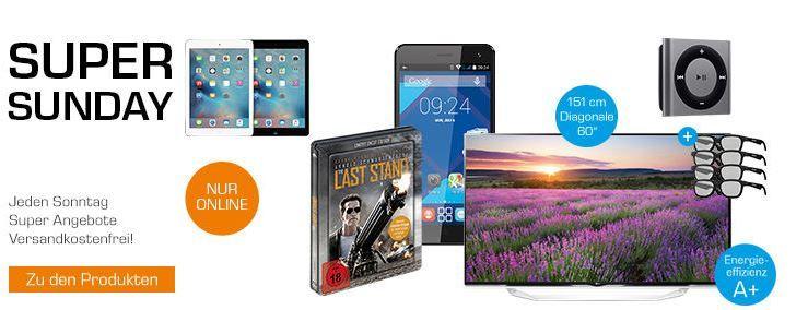 SS Saturn Angebote  APPLE iPod shuffle ab 34,99€ und mehr Saturn Super Sunday Angebote