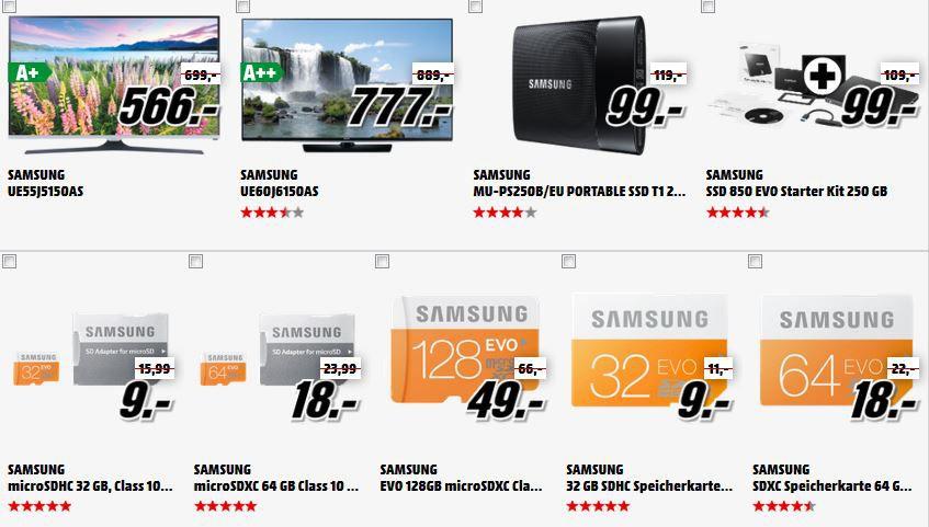 Samsung TV Samsung UE55J5150   55 Zoll FullHD TV für 566€ im MediaMarkt: Das Mega Marken Sparen