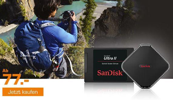 Sandisk Promo bei Saturn   günstige SSDs, USB Sticks und SD Karten