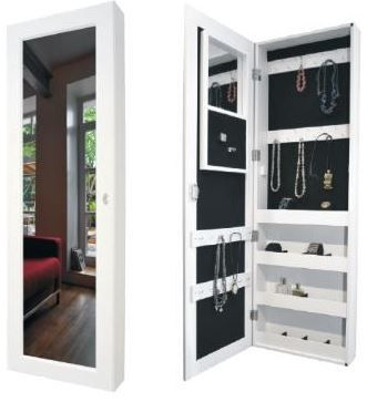 Schmuckschrank Spiegelschrank mit Innen Spiegel und Schmuckablage für 69€