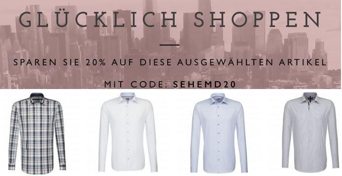 Seidensticker   mit 20% Rabatt auf ausgewählte Hemden und Blusen