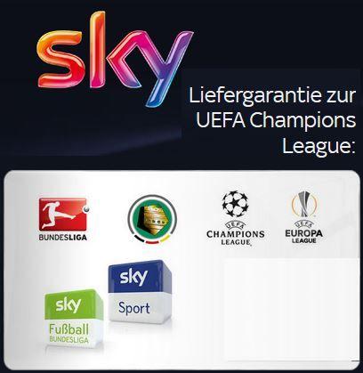 Sky Knaller Sky + alle Pakete + HD + Sky Go zum Knallerpreis von 35,99€/mtl.