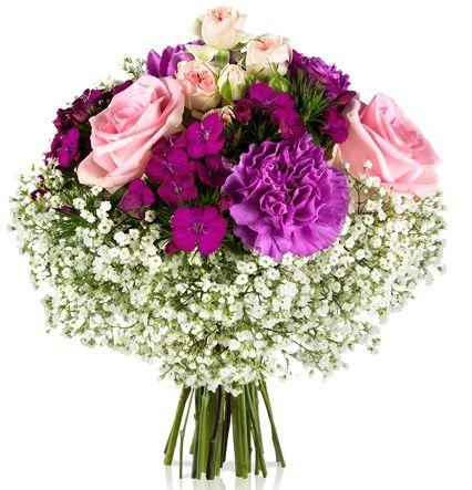 Herbststrauß Notre Dame mit lila Blüten für 18,90€