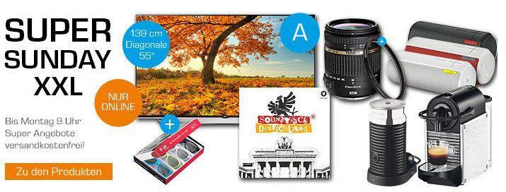 Super XXL Sundy Angebote LG 55UF9509   55 Zoll UHD 4K, 3D TV statt 2.529€ ab 1.594€ + Zubehör bei den Saturn Super Sunday Angeboten