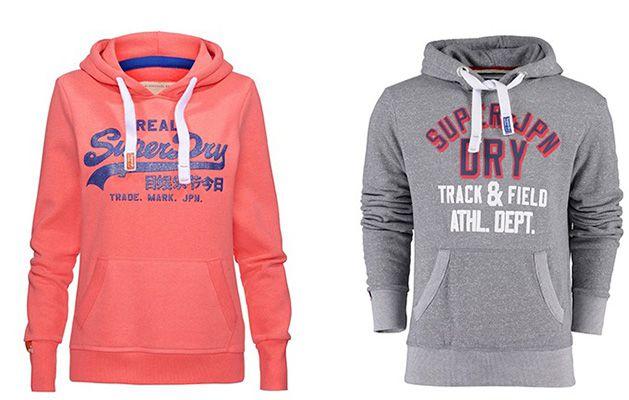 Superdry Herren Hoodie und Damen Sweatshirt für je 48,95€