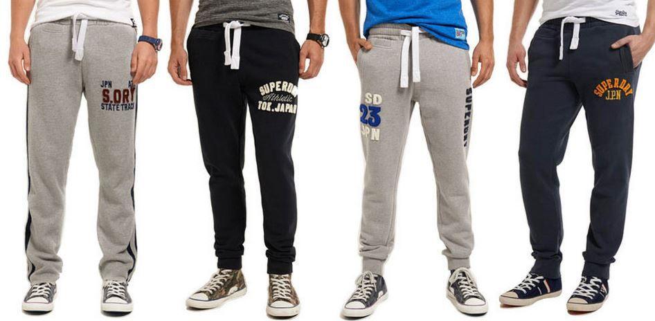 SUPERDRY   Herren Jogginghosen in verschiedenen Modellen für je 24,95€ (statt 45€)