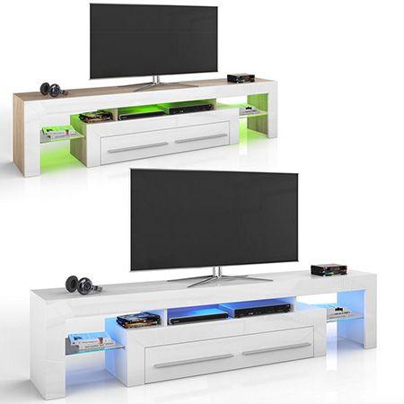 TV Lowboard mit LED Beleuchtung für 199,90€   2 Modelle verfügbar