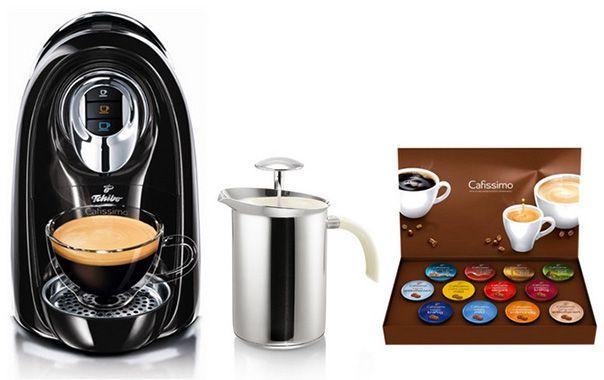 Tchibo Cafissimo Compact + Milchaufschäumer + 12 Kapseln statt 58€ für nur 29,99€