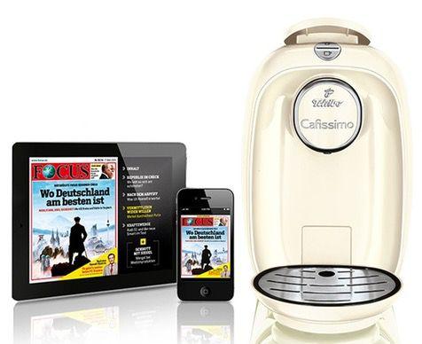 Tchibo Cafissimo Picco Tchibo Cafissimo Picco + Focus Abo mit 9 Digital Ausgaben oder mit 70 Kapseln und 40 Monaten Garantie für je 19,99€
