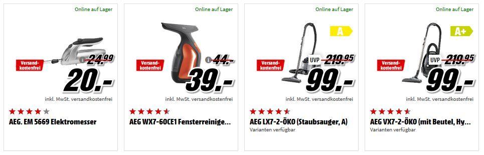 Media Markt Haushalts Mega Marken Sparen: günstige Artikel von AEG, Beurer, Sage und Sodastream