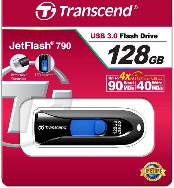 Transcend 128GB Transcend JetFlash   128GB USB 3.0 Speicherstick für 31,99€