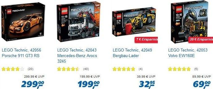 Nur heute: 20% Rabatt auf Lego Artikel bei Real