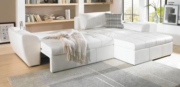 Weiße Wohnlandschaft für 399€   Textil, 290 x 78 x 204 cm