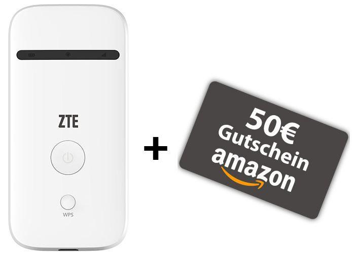 6 GB Telekom LTE Datenflat bis 50 MBit/s + ZTE Mobile Hotspot MF65 für effektiv 11,32€ mtl.