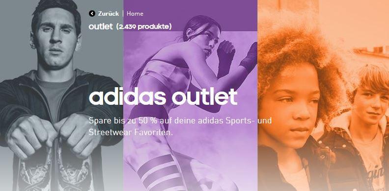 Adidas mit 20% Rabatt auf alles im Outlet Store