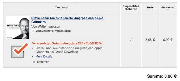 Kostenlos! Steve Jobs: Die autorisierte Biografie des Apple Gründers
