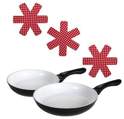 culinario Keramikpfannenset (20 & 28cm) + 3x Pfannenschutz für 19,99€